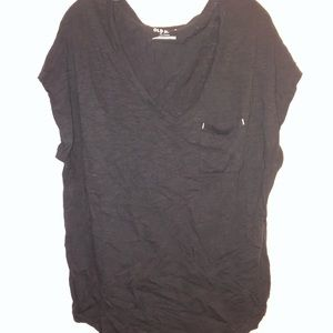 NWOT Old Navy Black Burnout Dolman Tee Size XL